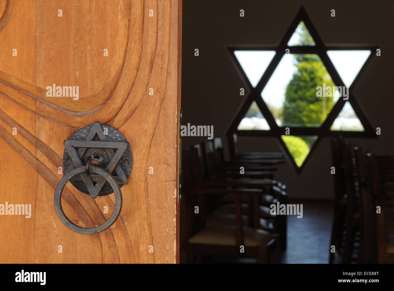 This is Centrum of  Religions: Christianity, Islam and Judaism. - Stock Image