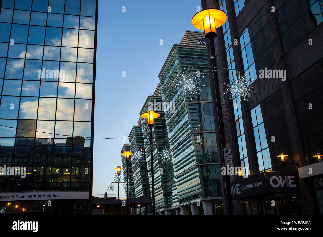 Merry Christmas at Colmore Business District, Snowhill train station Stock Photo