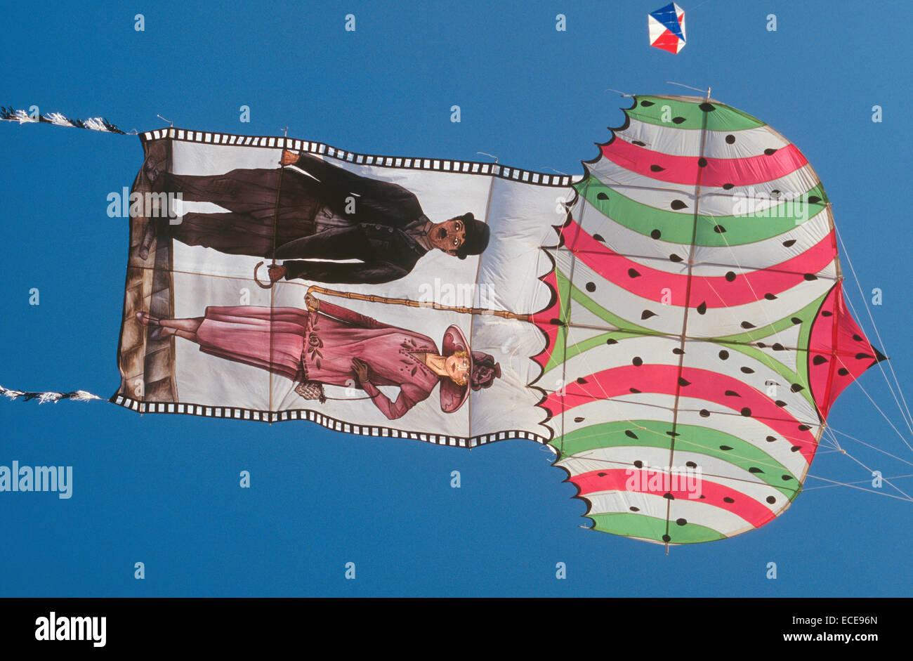 europe, italy, lazio, ostia beach, international kites meeting, special kite - Stock Image
