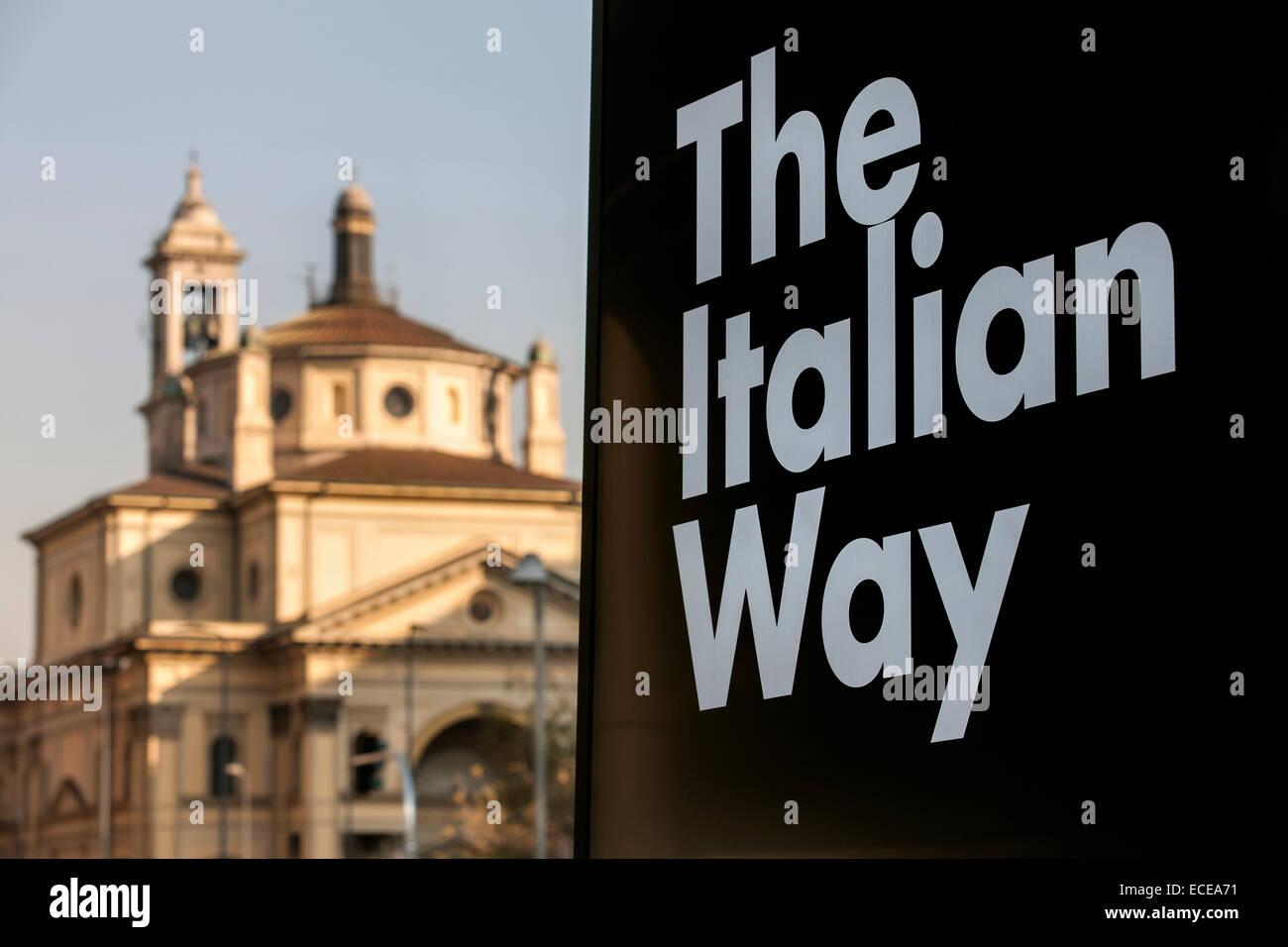 Milan, St. James' Church,The Italian Way, Italy - Stock Image