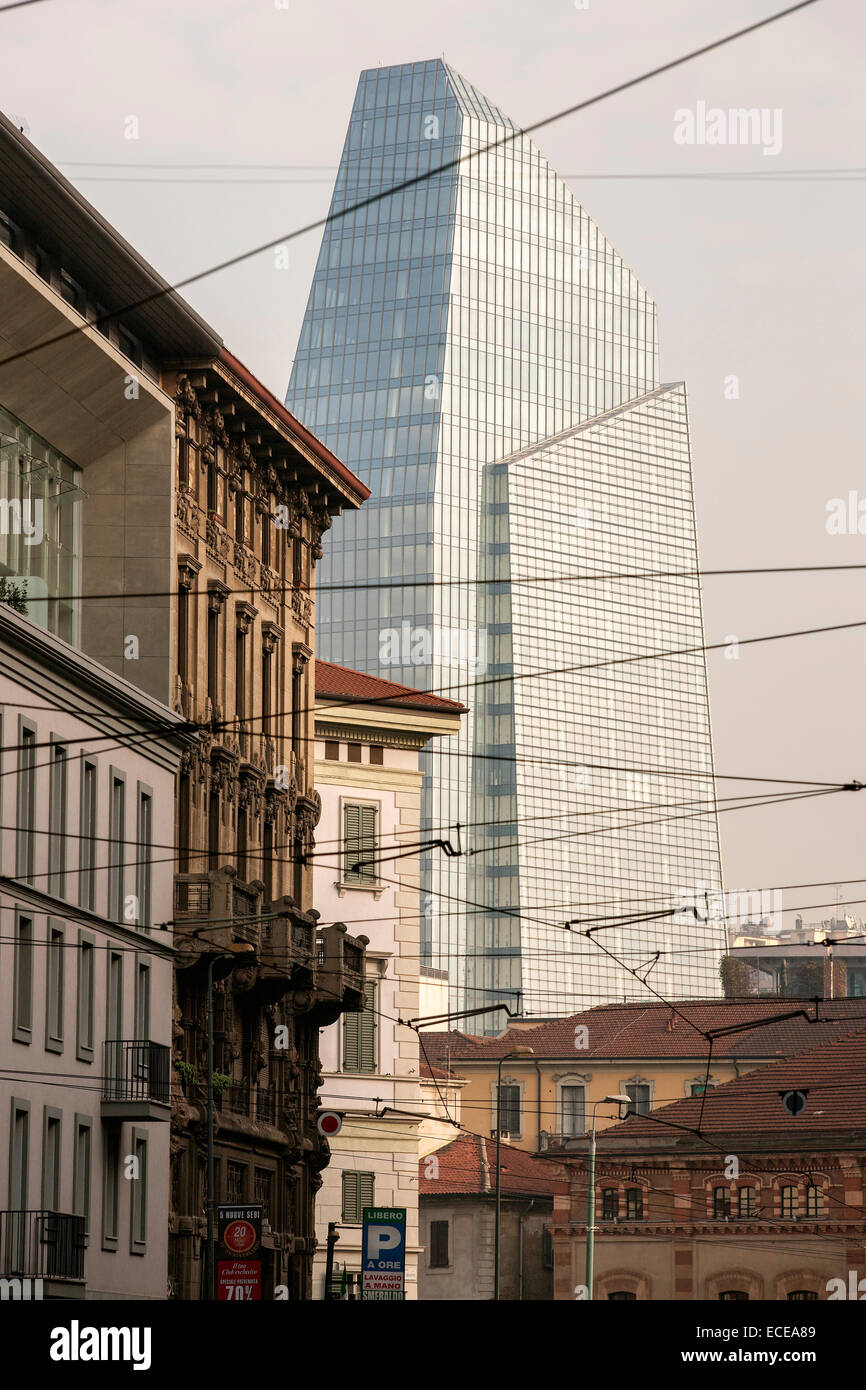 Milan, Porta Nuova, Torre Diamante (Diamond tower), new buildings, design, Lombardy, Italy - Stock Image