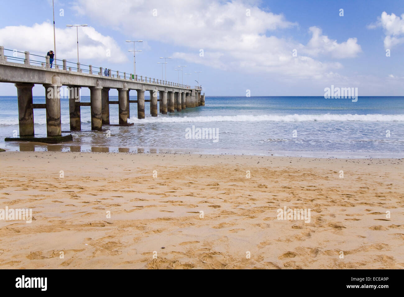 Pier at Porto Santo, Madeira islands, Portugal - Stock Image