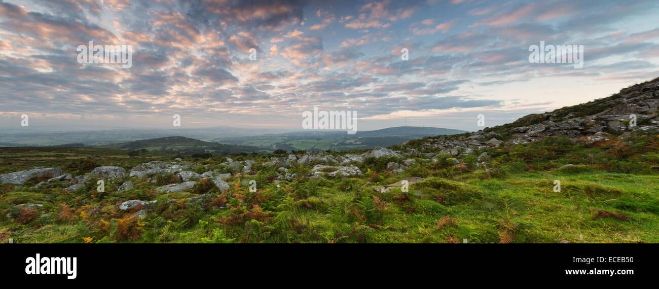 Sharptor Panorama at Dawn - Stock Image