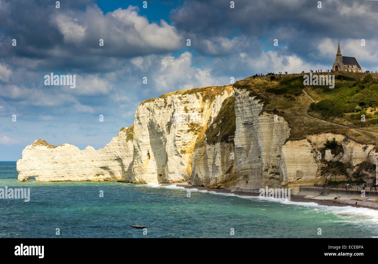 France, Normandy, Tretat church - Stock Image