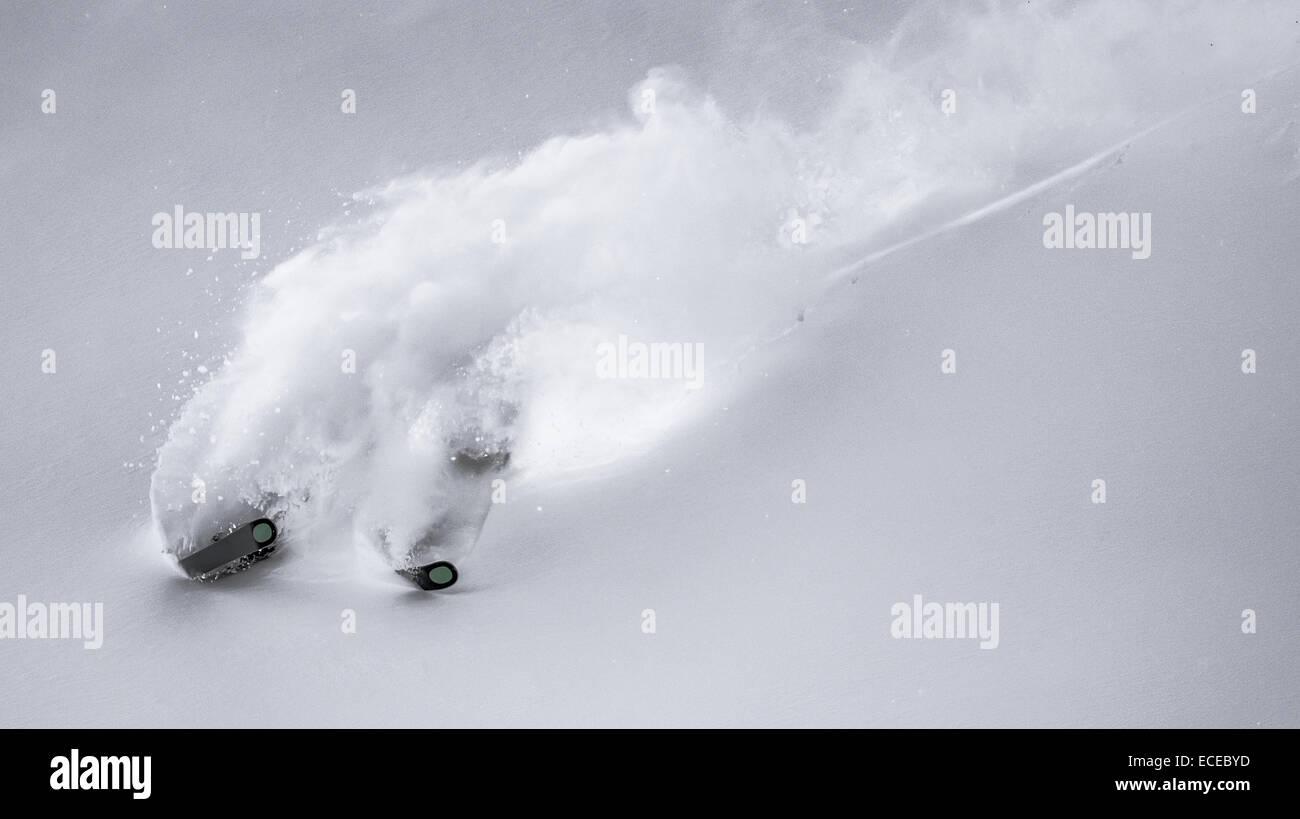 Austria, Freeride skier downhill skiing Stock Photo