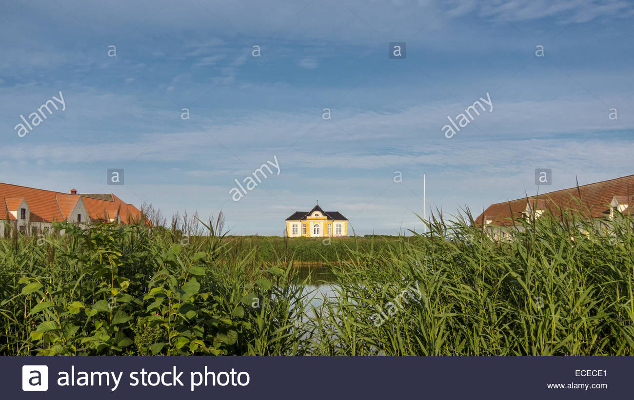 Denmark, Tea Pavillion in Valdemar's Castle - Stock Image