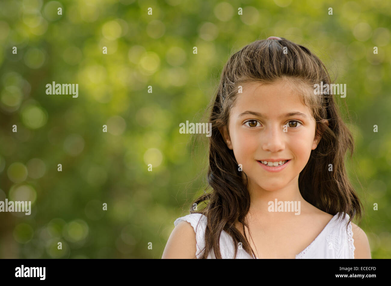 Charming little girl (8-9) - Stock Image