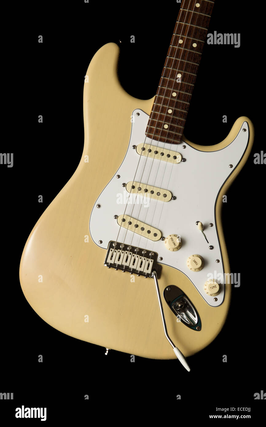 vintage guitar modified heavily. - Stock Image