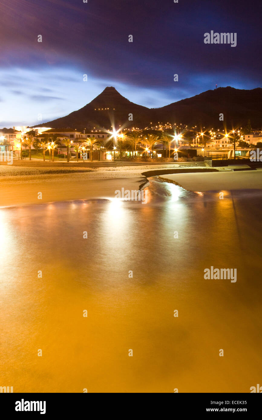 Vila Baleira in Porto Santo island by the evening - Stock Image