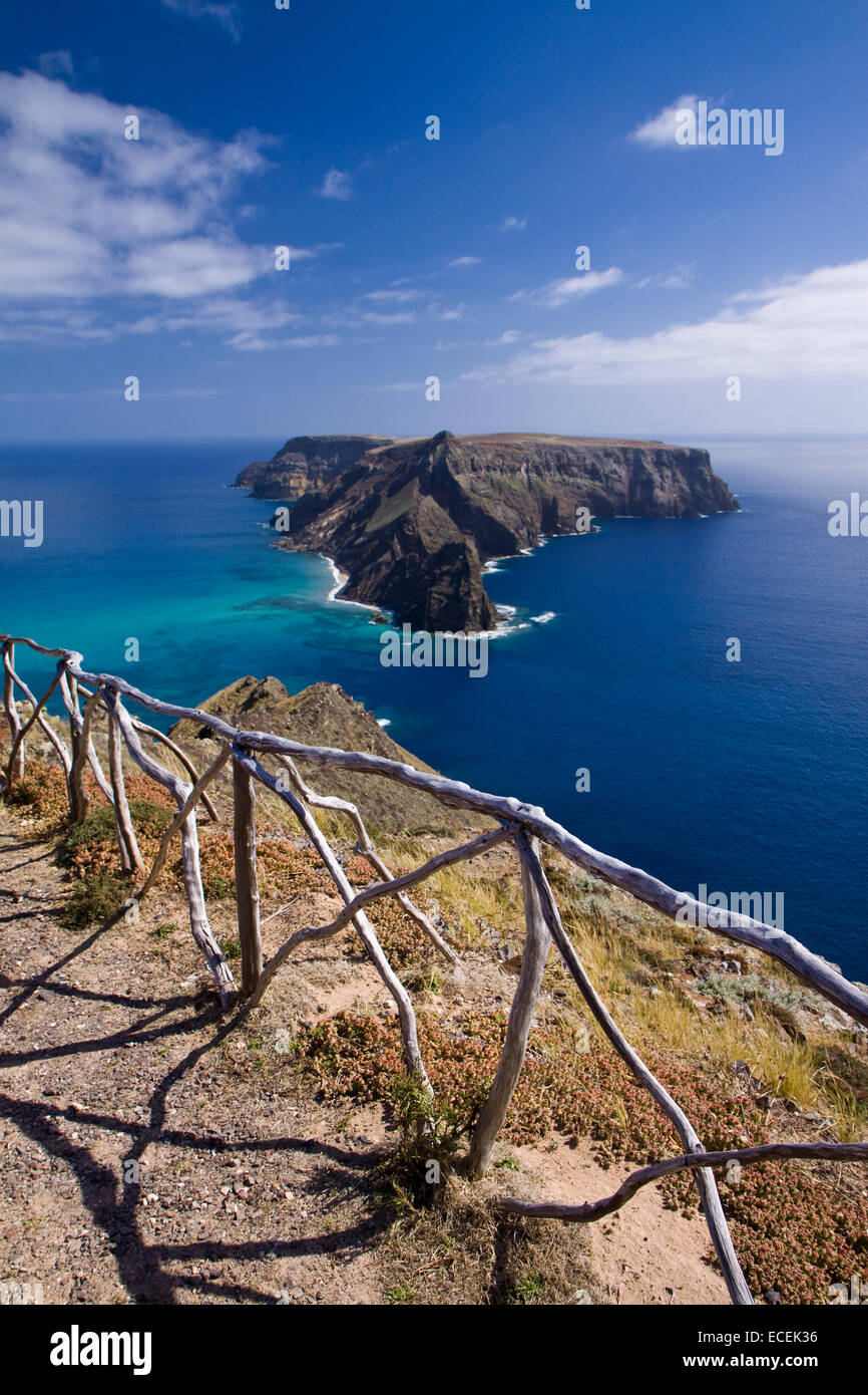 Ilheu da Cal, Porto Santo, Madeira islands in Portugal - Stock Image