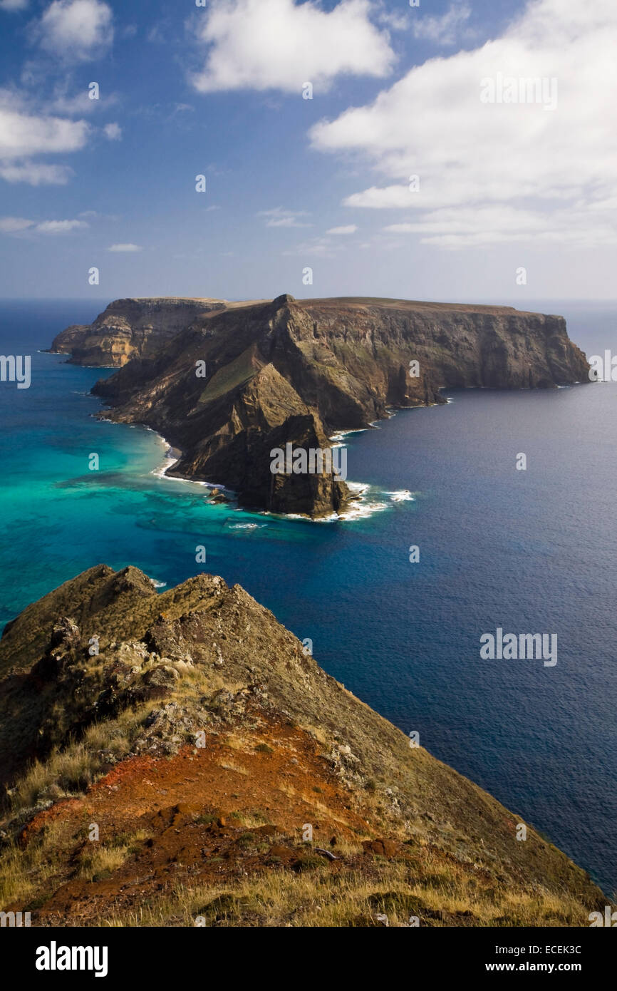 Ilheu da Cal island, Porto Santo, Madeira, Portugal - Stock Image