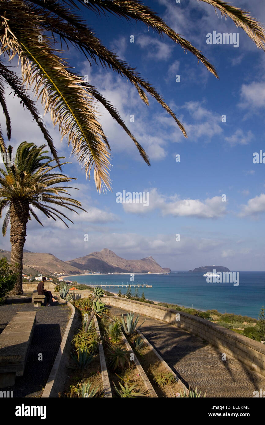 Porto Santo viewpoint, Madeira islands, Portugal, Europe - Stock Image