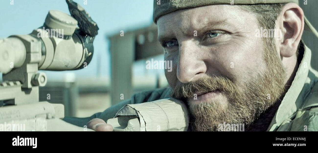 AMERICAN SNIPER 2014 Warner Bros film with Bradley Cooper - Stock Image