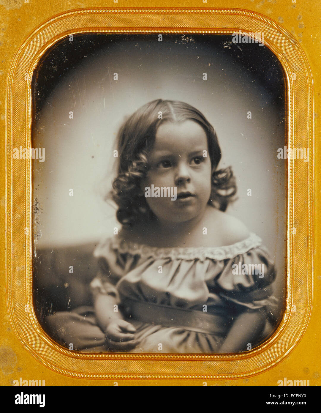Portrait of a Young Girl; Southworth & Hawes, American, active 1844 - 1862; about 1852; Daguerreotype; 1/2 plate, - Stock Image