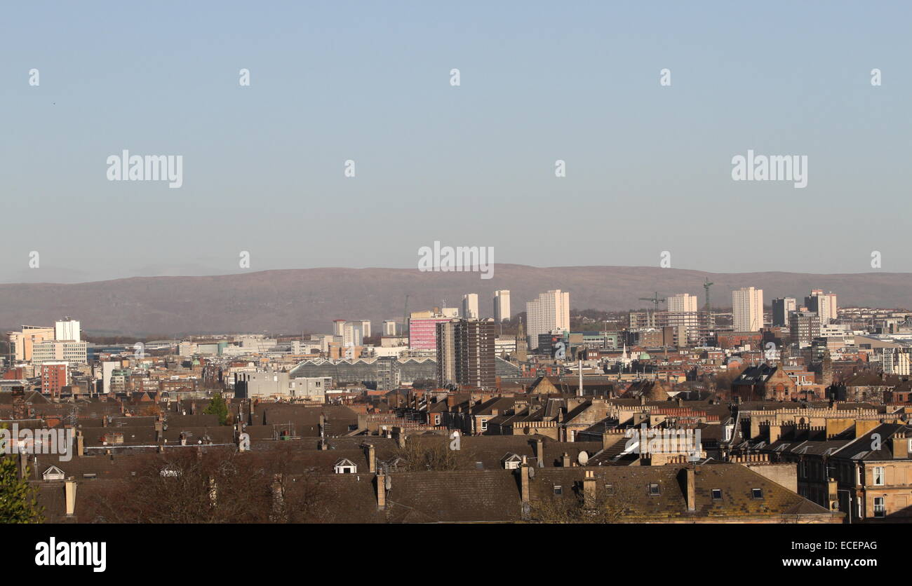 Central Glasgow cityscape Scotland  December 2014 - Stock Image