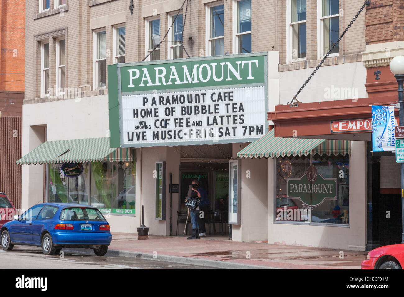 Paramount Cafe,1607 Capitol Ave, Cheyenne, WY 82001, USA, Wyoming, - Stock Image