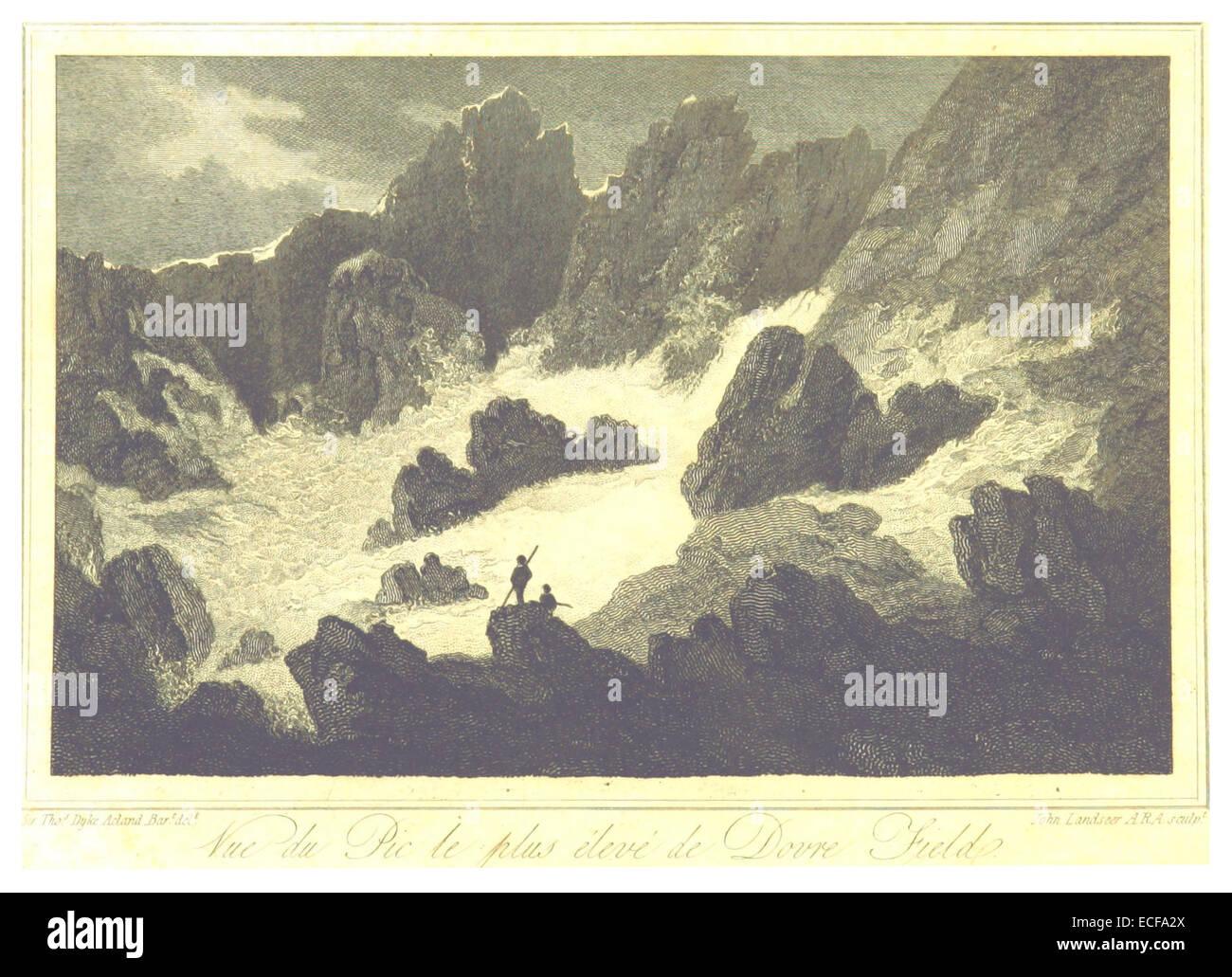 LAMOTTE(1813) p006 DOVRE FJELD - Stock Image
