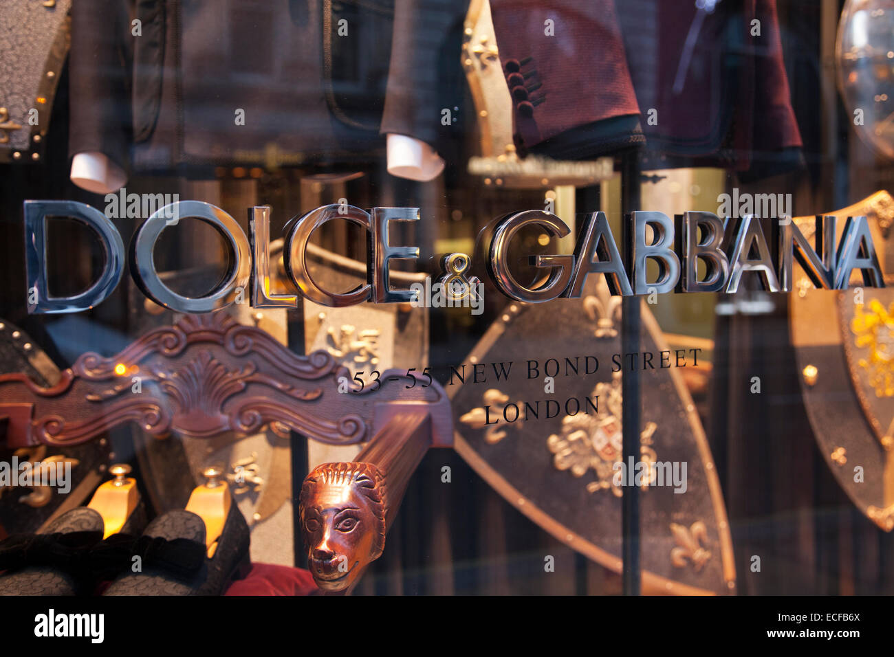 Dolce & Gabbana fashion store on New Bond Street - Stock Image