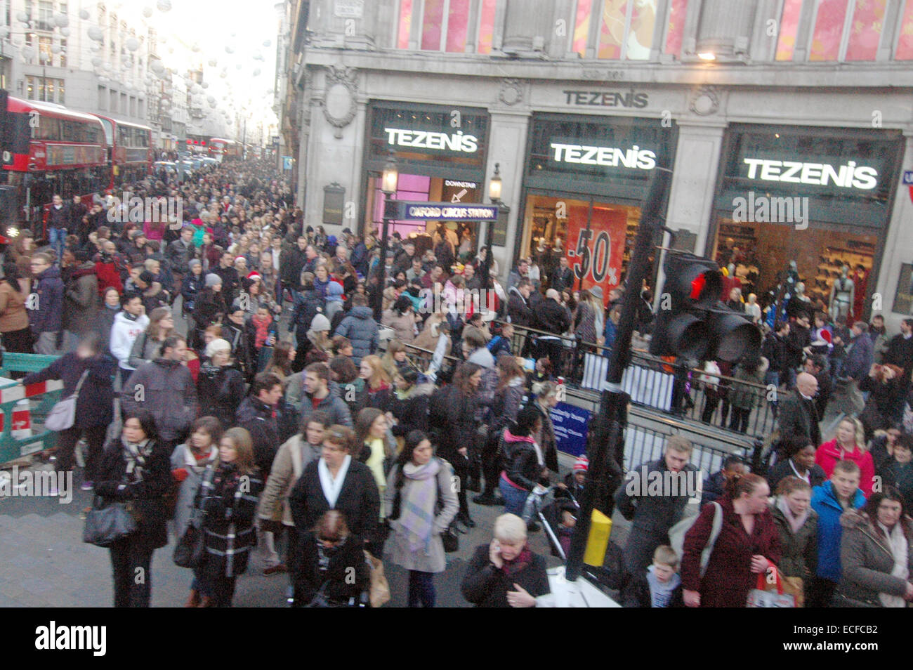 London, UK. 13th December, 2014. Christmas shoppers out in the West End of London as only 12 days remain. Credit: - Stock Image