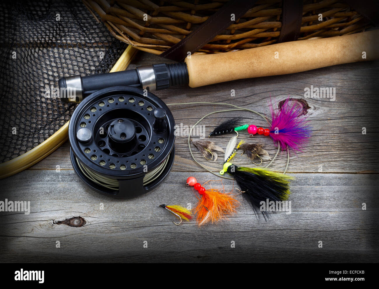 3d4f5ee14939b Fishing Rod And Creel Stock Photos   Fishing Rod And Creel Stock ...