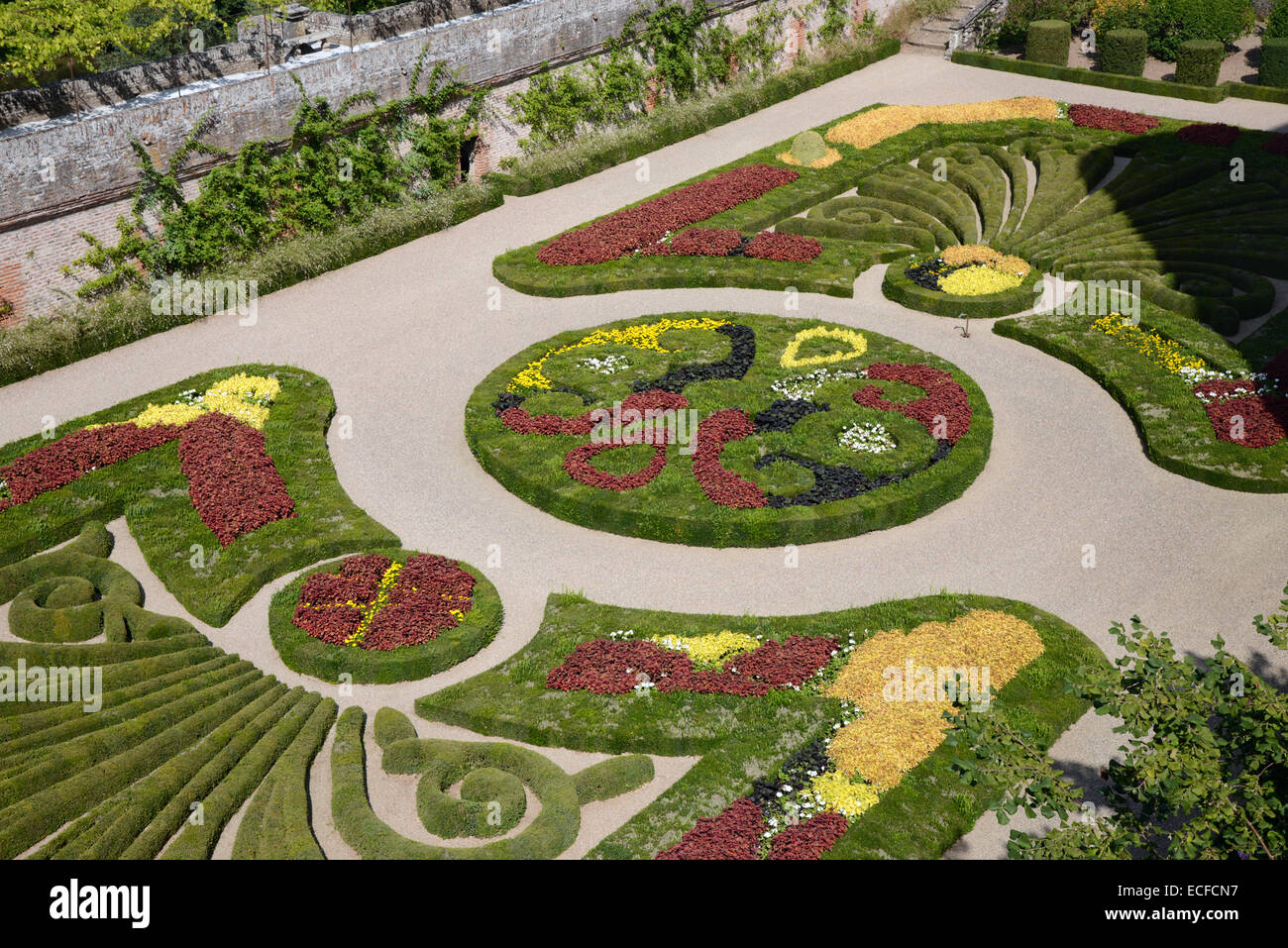 Formal French Garden Or Topiary Garden Of The Bishops Palace De La Berbie  Location Of The