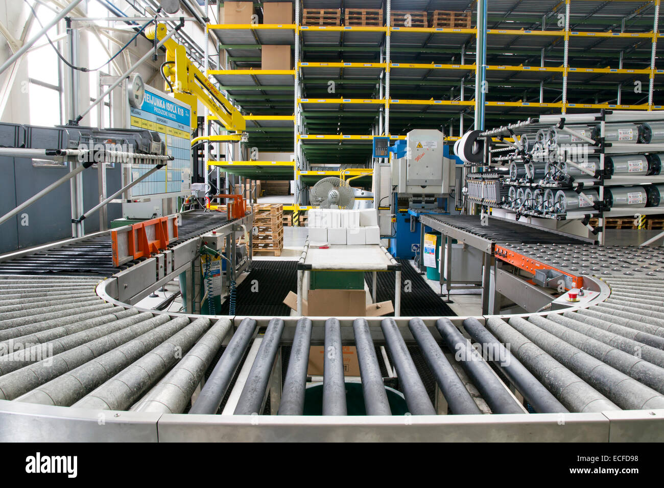 Assembly roller line - Stock Image