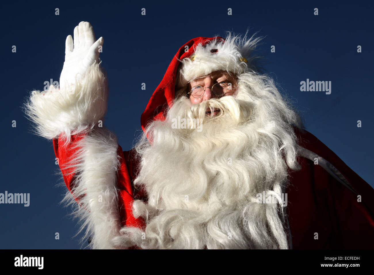 Britains longest serving Santa Ray Hulse aged 70 starting his 52 year as Father Christmas. Retired carpet fitter - Stock Image