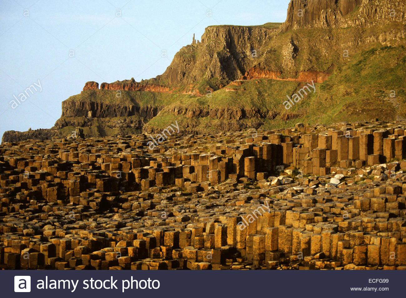 Northern Ireland, Giant's causeway - Stock Image