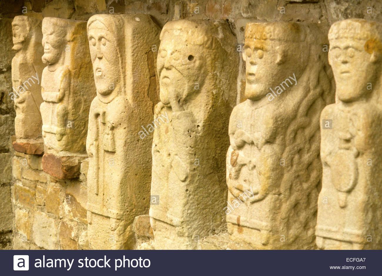 Northern Ireland, celtic statues - Stock Image