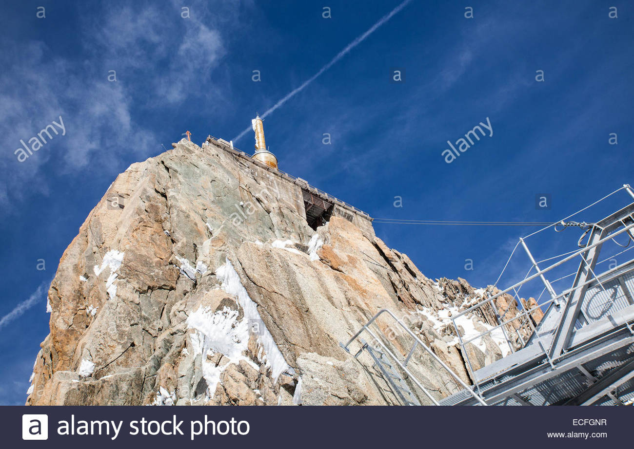Haute-Savoie, the Aiguille du Midi - Stock Image