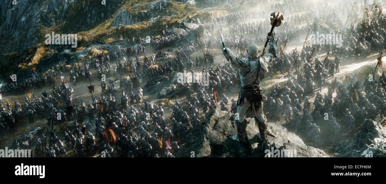 THE HOBBIT : THE BATTLE OF THE FIVE ARMIES  2014 MGM film - Stock Image