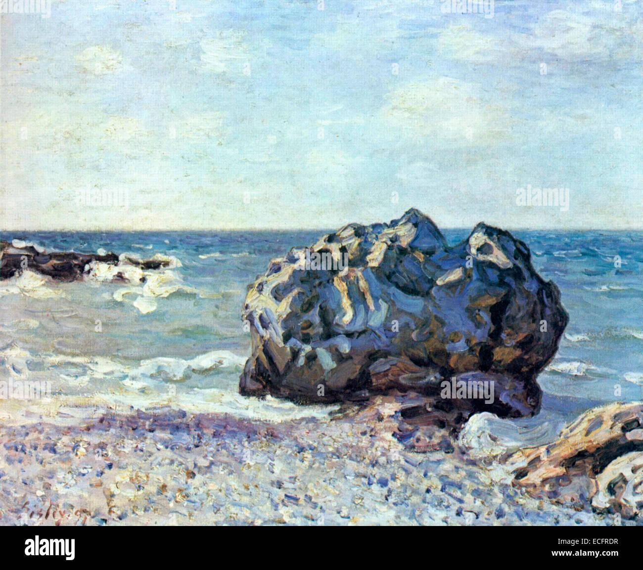 Seaside, Langland ,1887 Alfred Sisley - Stock Image
