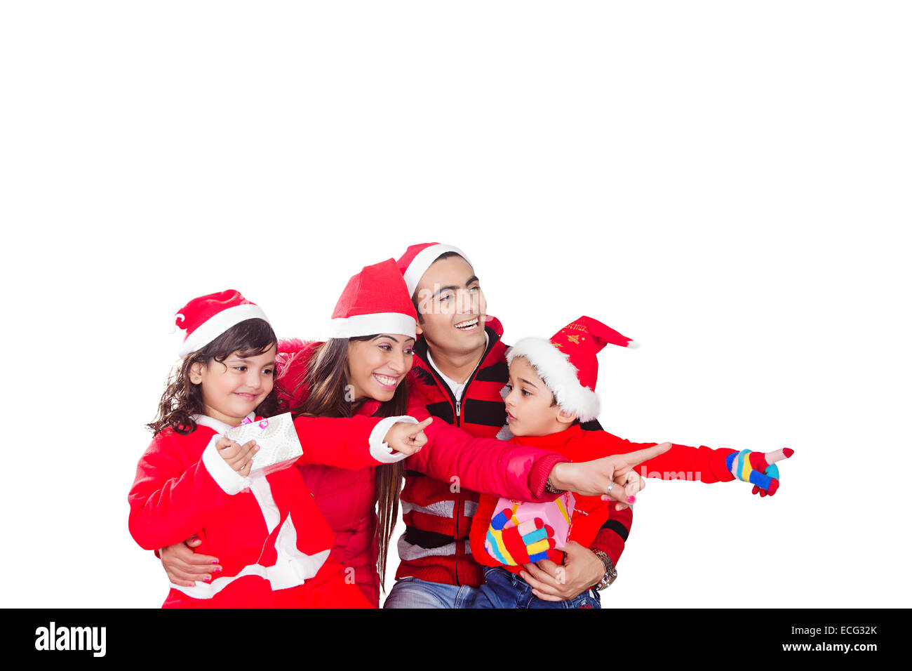 indian Presents with children Christmas Festival enjoy Stock Photo ...