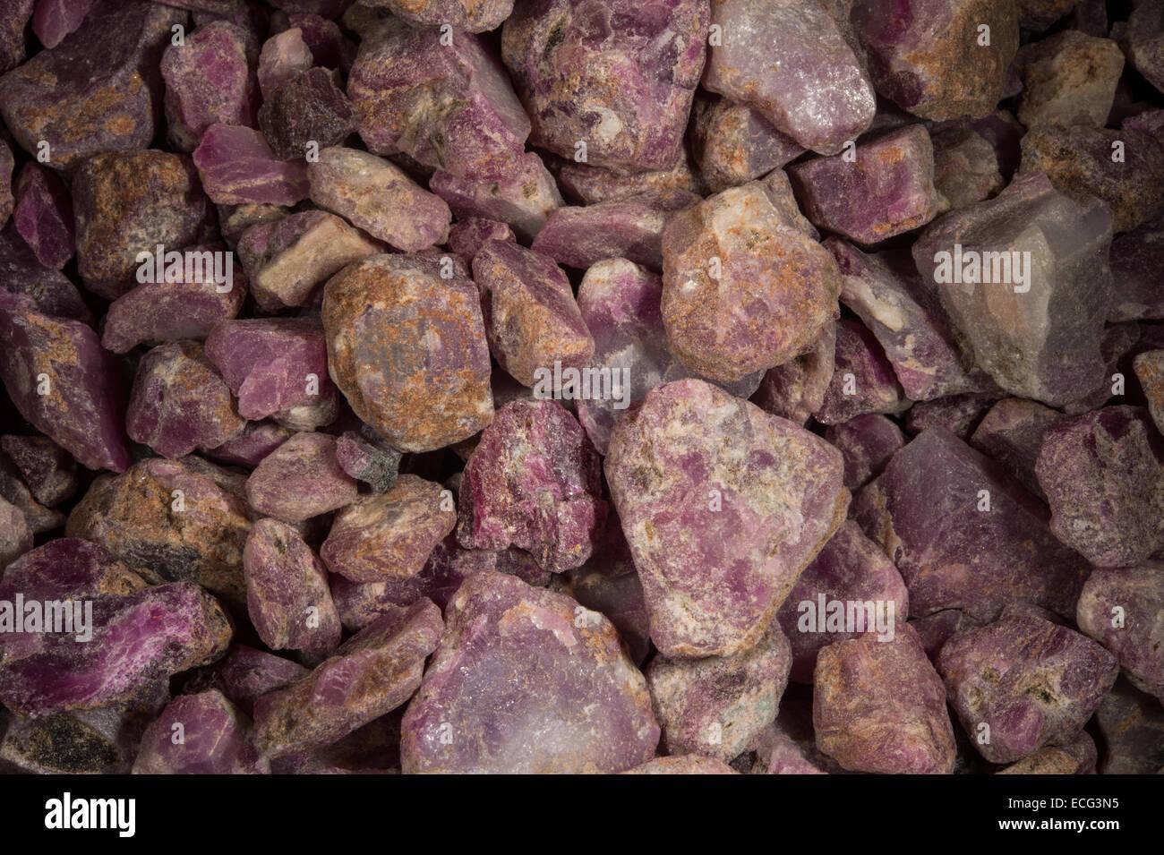 Raw rubin Ethiopia, Africa - Stock Image