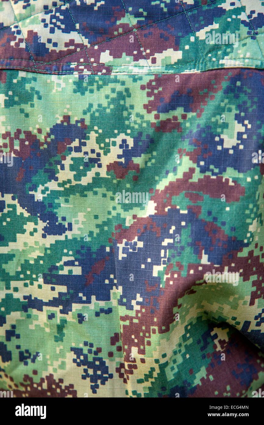 Military camouflage uniform - Stock Image