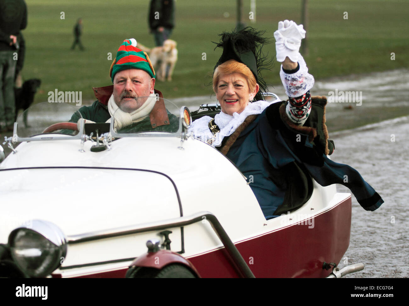 Nottingham, UK. 14th Dec, 2014. councillor Jackie Morris the incumbent Sheriff of Nottingham leaving the Rec 'Wish - Stock Image