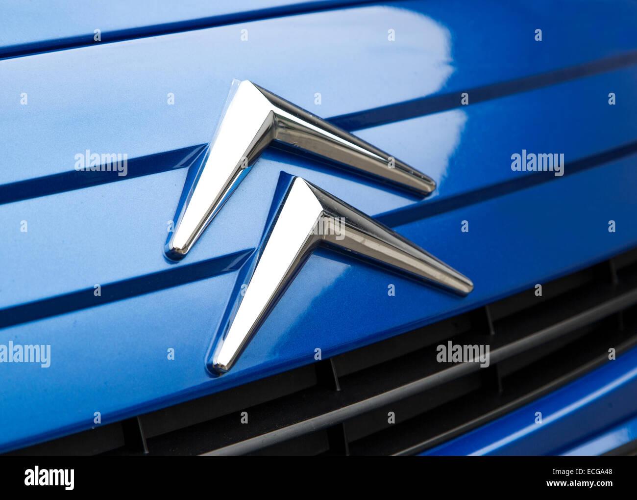 Detail of the Citroen car in Belgrade, Serbia. - Stock Image