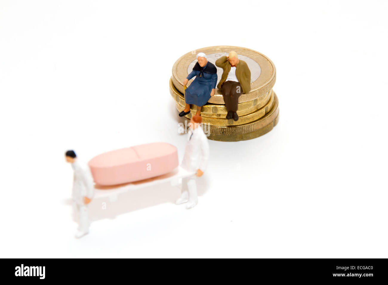 Seniors, costs, medication - Stock Image