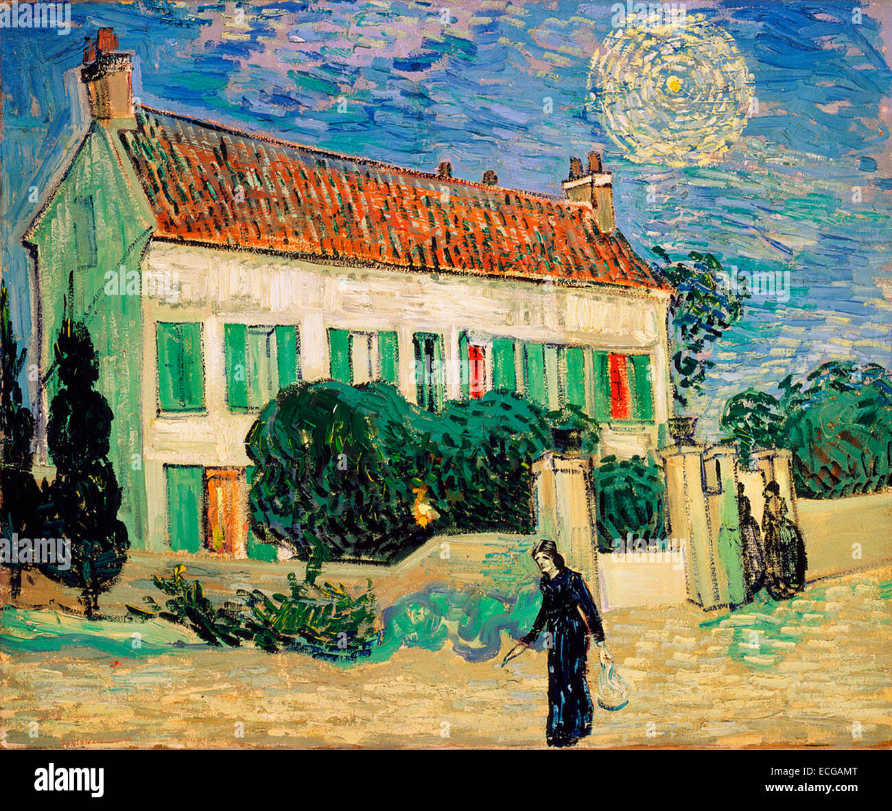 White House At Night June 1890 Vincent Van Gogh Painted Six Weeks Before  The Artistu0027s Death