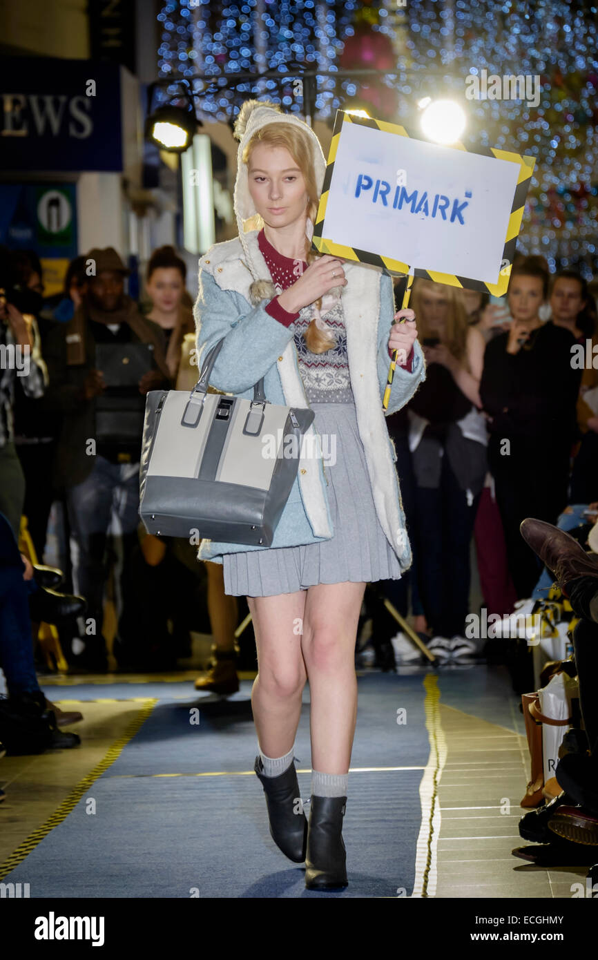Preston Lancashire: Fashion Show featuring Primark by students at the University of Central Lancashire - Stock Image