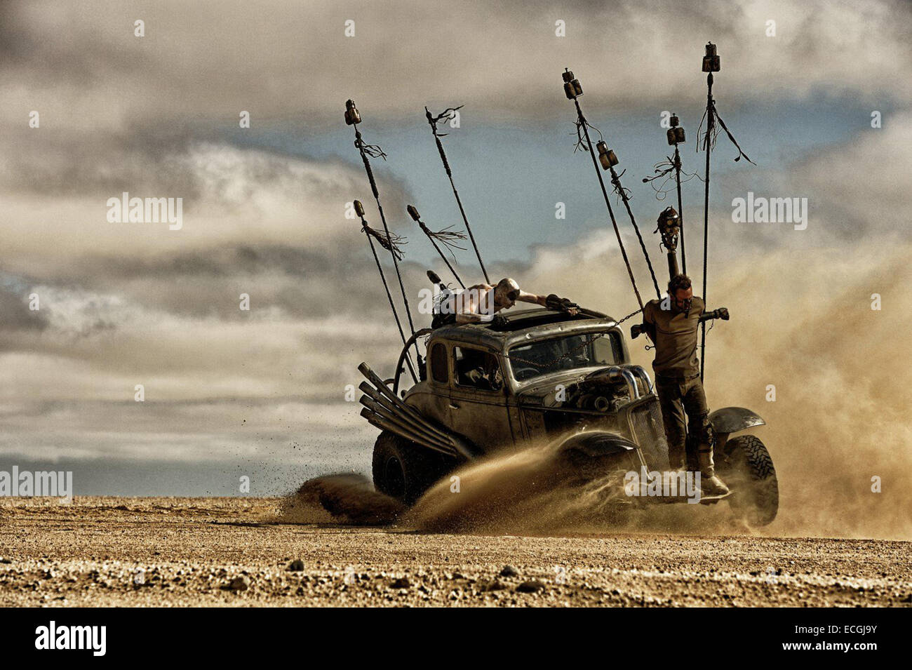 Mad Max: Fury Road is an upcoming post-apocalyptic action film directed, produced and co-written by George Miller, Stock Photo