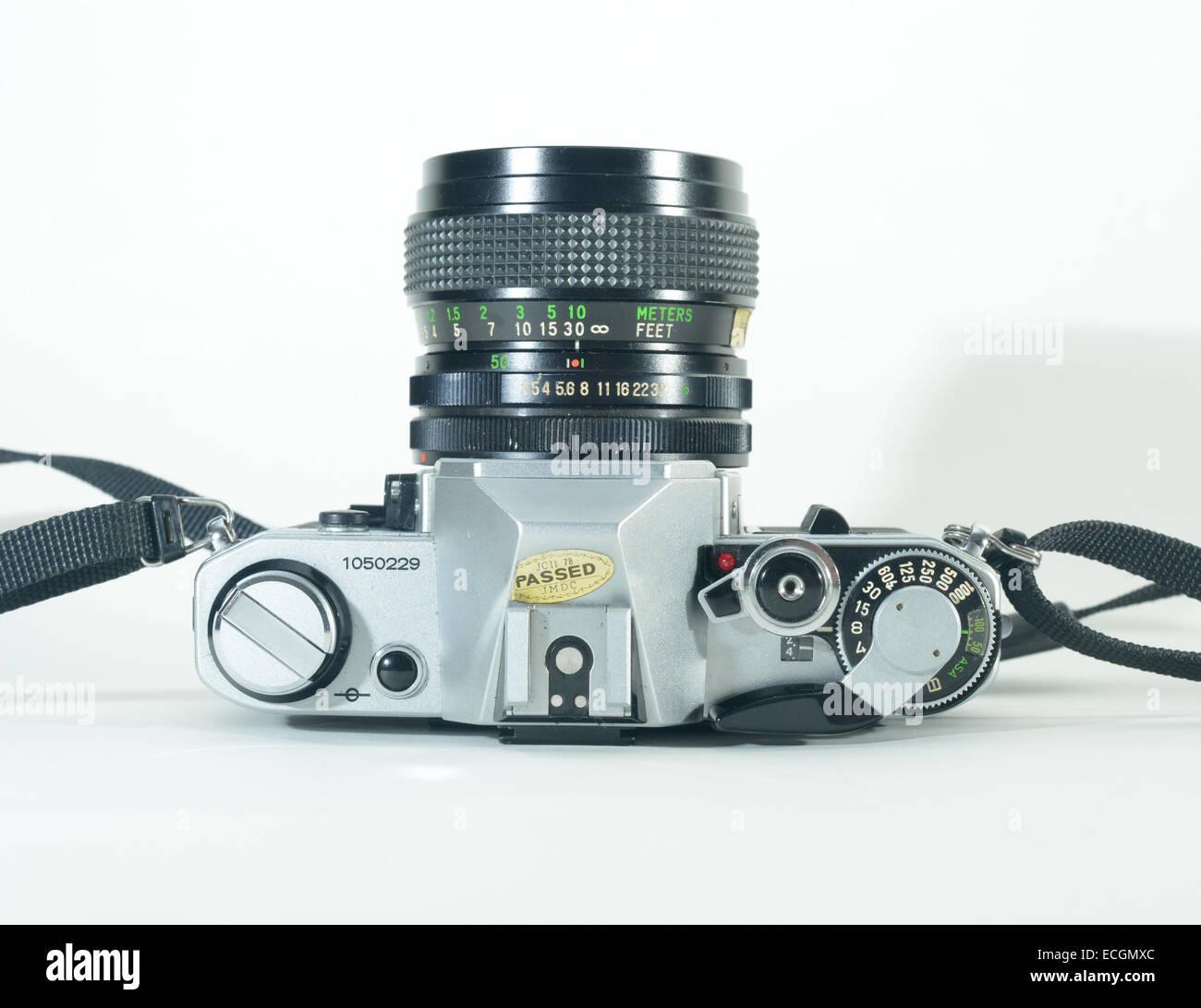 Canon AE1 SLR manual film camera - Stock Image