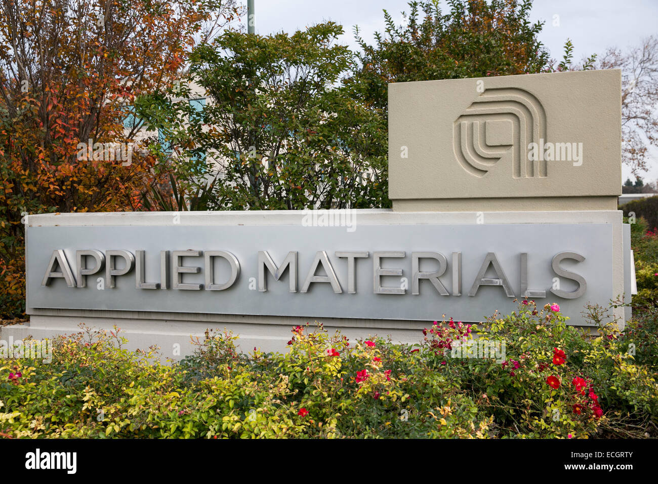 The headquarters of semiconductor manufacturer Applied Materials. - Stock Image