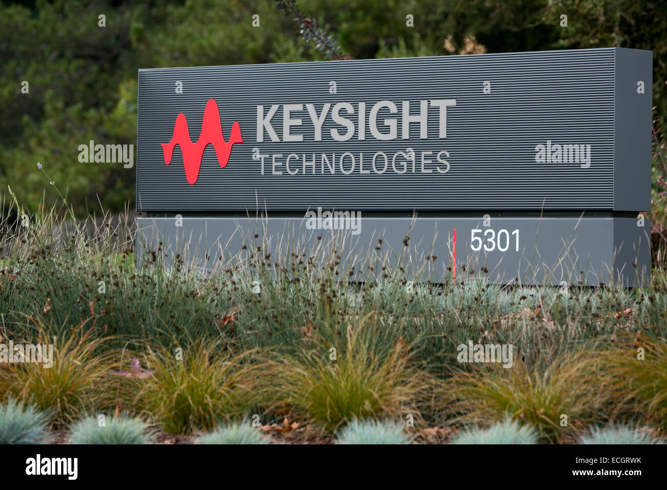 An office building occupied by Keysight Technologies. - Stock Image