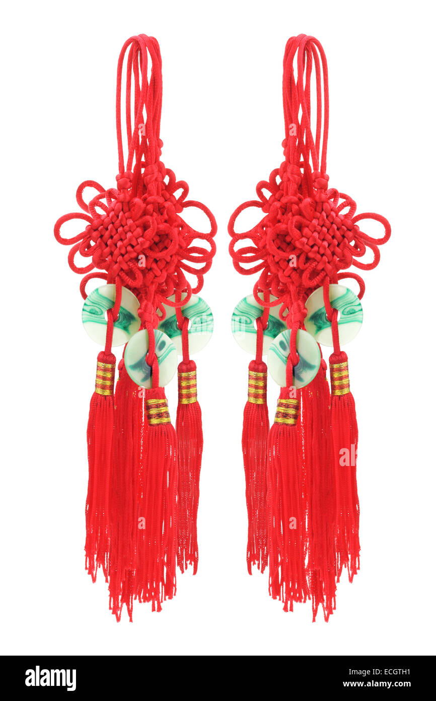 Chinese New Year Mystical Knots Festive Decorative Ornaments - Stock Image