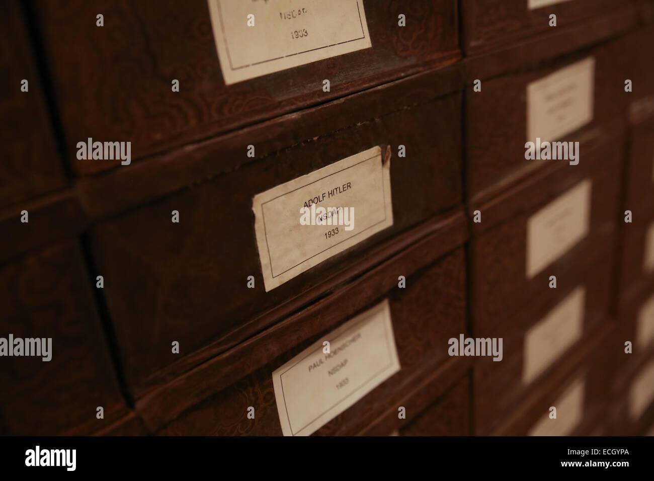adolf hitler box reichstag building basement - Stock Image