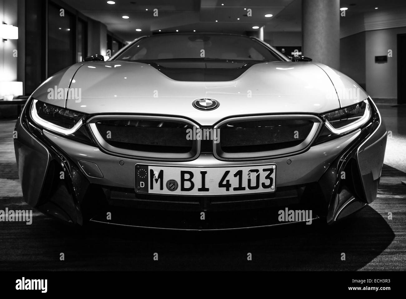 hybrid bmw i8 black and white stock photos images alamy