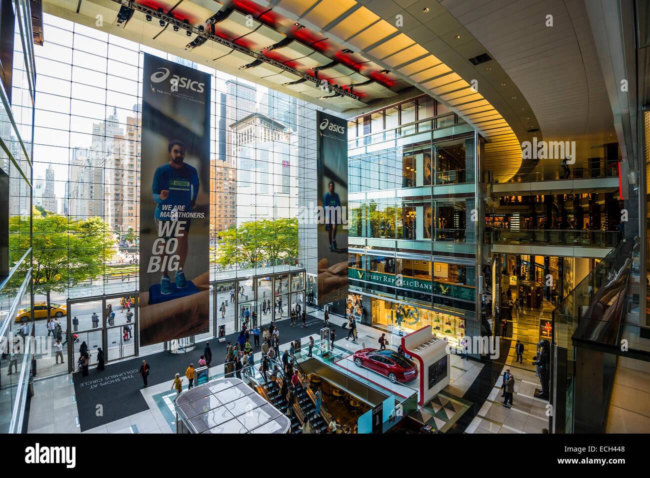 Time Warner Center at Columbus Circle, Manhattan, New York, United States - Stock Image