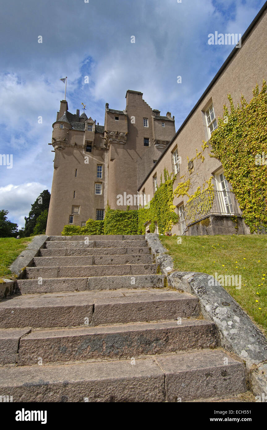 Crathes Castle, Aberdeenshire, Scotland, United Kingdom, Europe - Stock Image