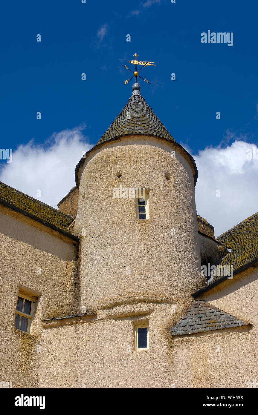 Drum Castle, Aberdeenshire, Scotland, United Kingdom, Europe - Stock Image